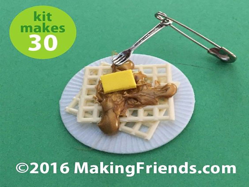 girl scouts making friends waffle swaps