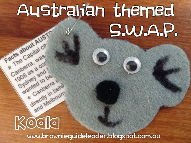 Koala Animal Swaps for Girl Scouts