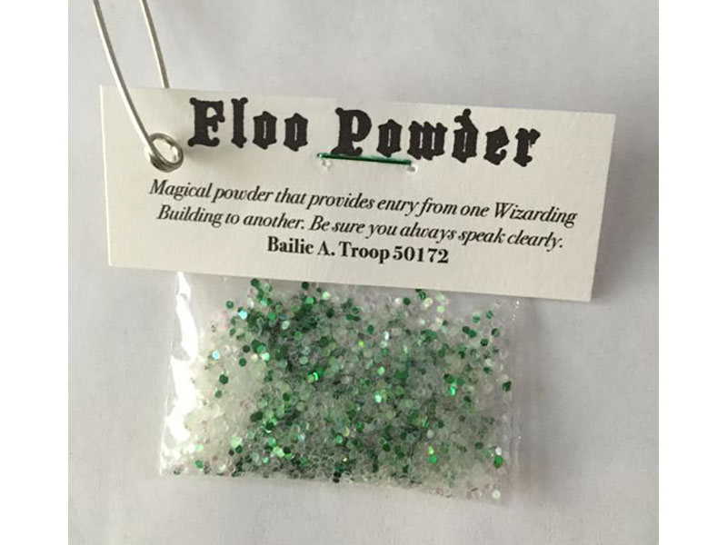 girl scouts sparkly floo powder swaps